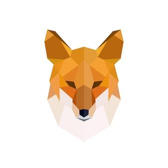 Głowa rudego lisa