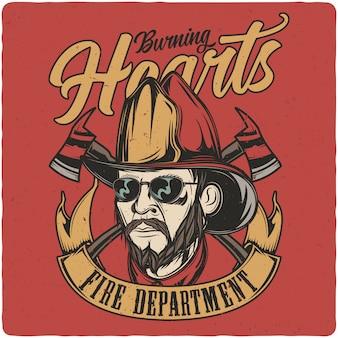 Głowa strażaka