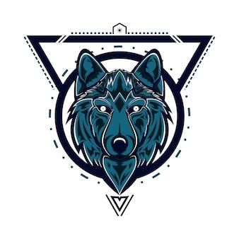 Głowa świętej geometrii wilka