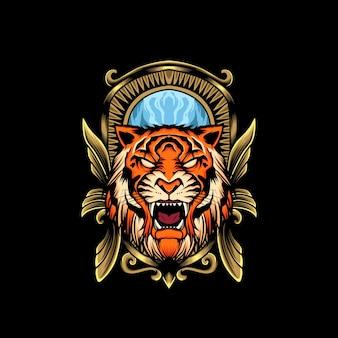 Głowa tygrysa godło ilustracja
