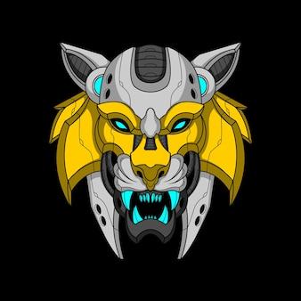 Głowa tygrysa mecha