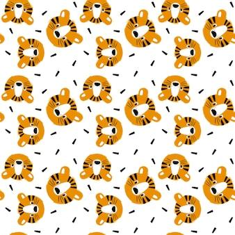 Głowa tygrysa wzór symbol nowego roku 2022