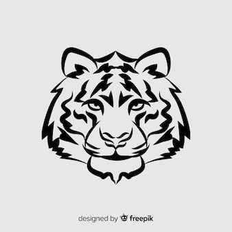 Głowa Tygrysa Darmowych Wektorów