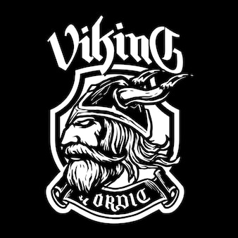 Głowa wikingów