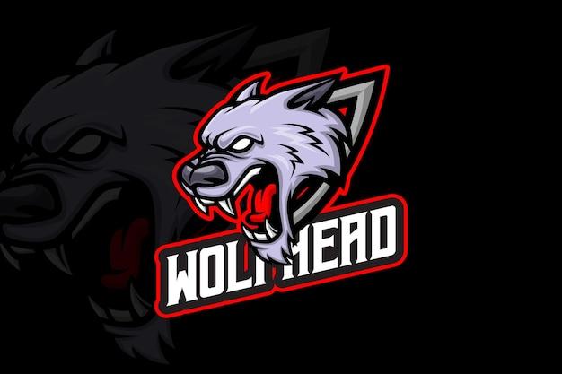Głowa wilka - szablon logo e-sportu