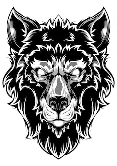 Głowa wilka