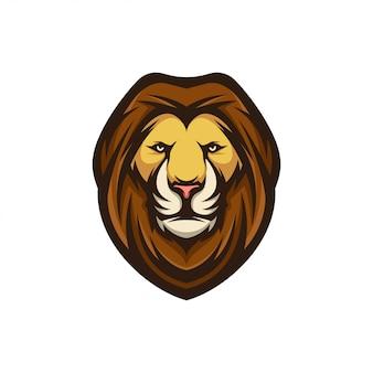 Głowa z logo lwa
