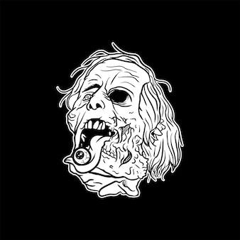 Głowa zombie
