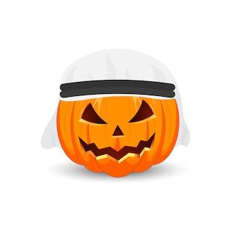 Główny symbol święta happy halloween. arabska dynia.