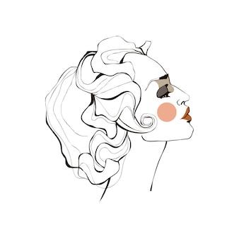Głowy dziewczyny z lokami