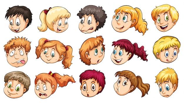 Głowy mężczyzny i kobiety