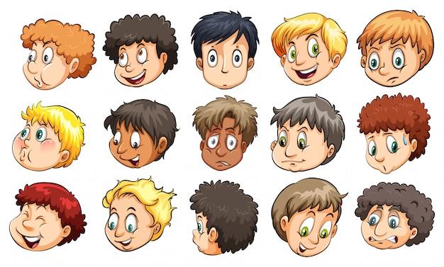 Głowy młodych chłopców
