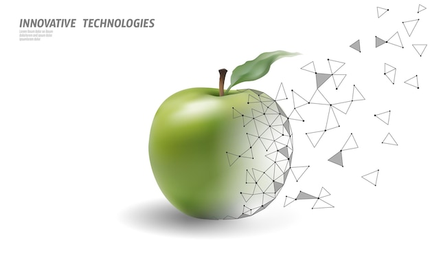Gmo zmodyfikowana genetycznie roślina jabłka.