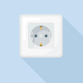 Gniazdo elektryczne. elektryczność. podłączanie i odłączanie instalacji elektrycznej w domu