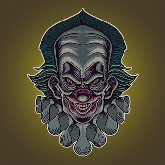 Gniewna głowa klauna