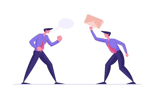 Gniewni biznesmeni kłótni