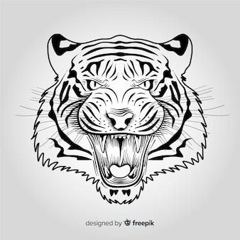 Gniewny tygrysi tło