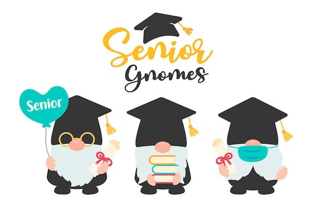 Gnomy z dyplomem ukończenia szkoły wyższej