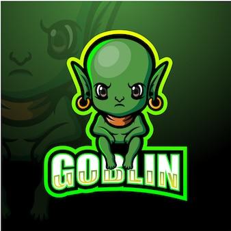 Goblin maskotka ilustracja e-sport
