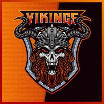 God odin viking projekt logo esport i sportowej maskotki
