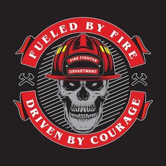 Godło czaszki strażaka