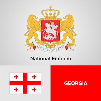 Godło gruzji i flaga