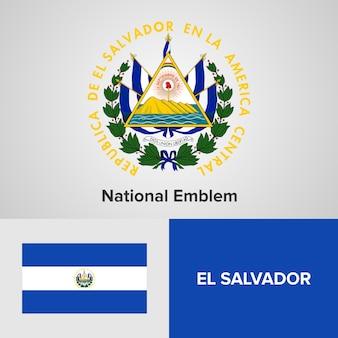 Godło i flaga salwadoru