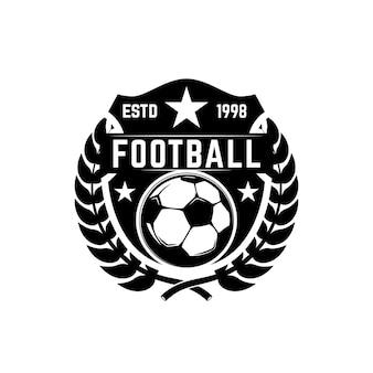 Godło klubu piłki nożnej. element projektu logo, etykieta, znak, plakat.