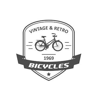 Godło lub logo sklepu rowerowego, odznaka retro rower