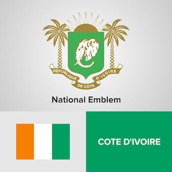 Godło narodowe wybrzeże kości słoniowej i flaga