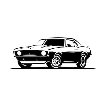 Godło retro samochód mięśni.