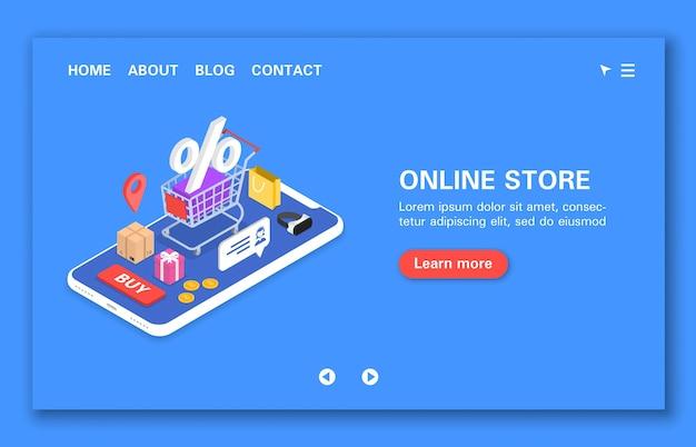 Godziny koncepcyjne sklepu internetowego wsparcie rabaty, premie i prezenty, śledzenie zakupów izometrycznych