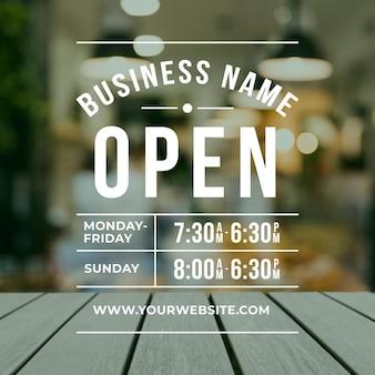 Godziny otwarcia firm ze zdjęciem