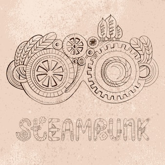 Gogle steampunk