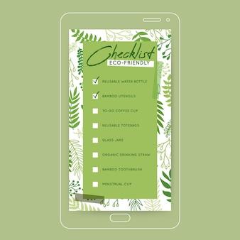 Going green checklist historia na instagramie