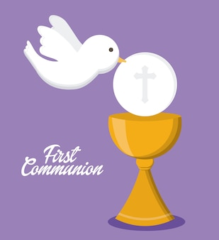 Gołąb ikona złotej religii