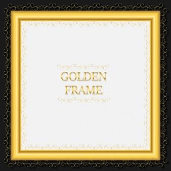 Golden square ramki