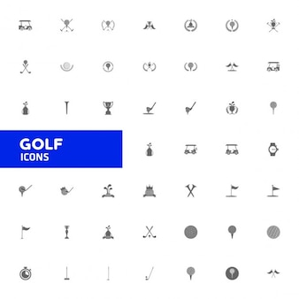 Golf duży zbiór ikon