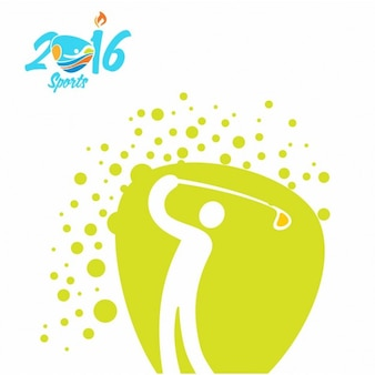 Golf rio olimpiada ikona