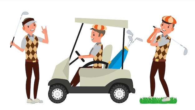 Golfista mężczyzna