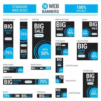 Google adsense niebieski big sale banery