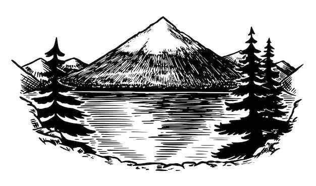 Góra fuji na białym tle