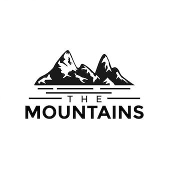 Góra i woda graficzny projekt szablon wektor