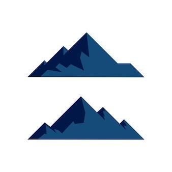 Góra ikona logo szablon projekt ilustracji wektorowych