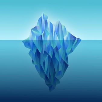 Góra lodowa ilustracja płaska konstrukcja