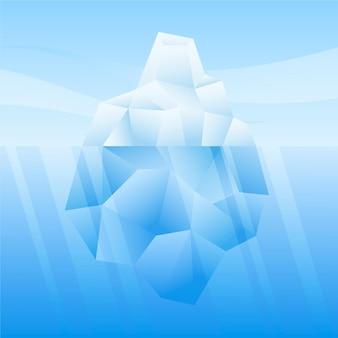 Góra lodowa w koncepcji morza