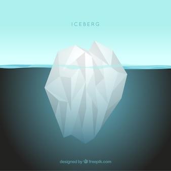 Góra lodowa w oceanie