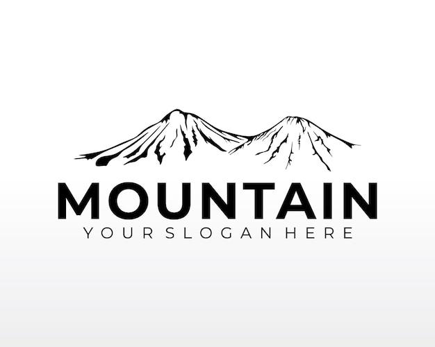 Góra logo projekt wektor sylwetka ilustracja