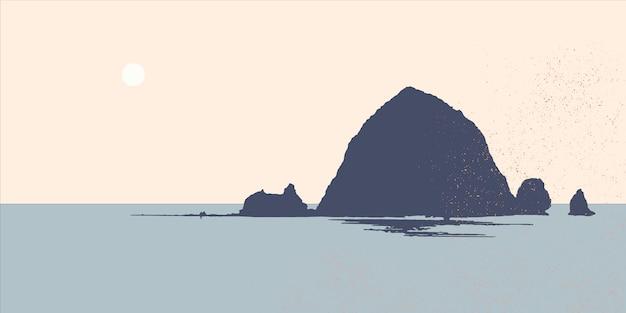 Góra na tle jeziora