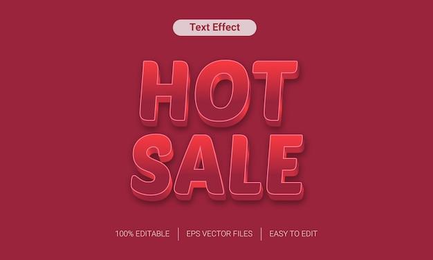 Gorąca sprzedaż czerwony gradient pogrubiony efekt tekstu 3d